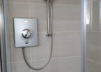 shower quadrant installation with Aqualisa electric shower